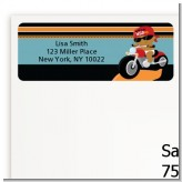Motorcycle African American Baby Boy - Baby Shower Return Address Labels