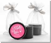 Made With Love - Birthday Party Black Candle Tin Favors