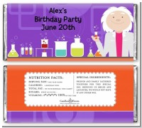 Mad Scientist - Personalized Birthday Party Candy Bar Wrappers