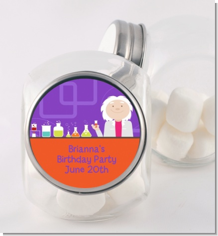 Mad Scientist - Personalized Birthday Party Candy Jar