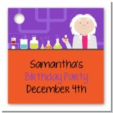Mad Scientist - Personalized Birthday Party Card Stock Favor Tags