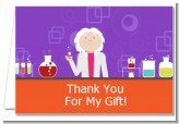 Mad Scientist - Birthday Party Thank You Cards