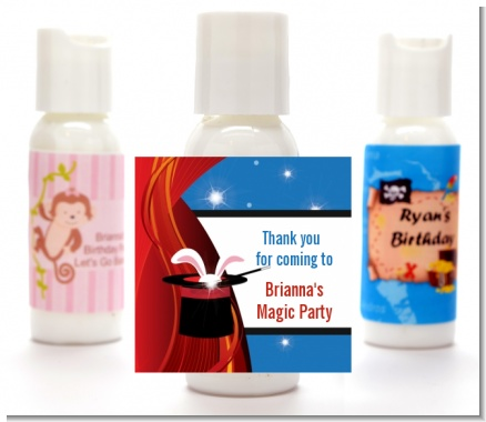 Magic - Personalized Birthday Party Lotion Favors