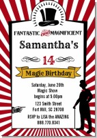 Vintage Magic - Birthday Party Invitations
