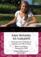 Maroon Floral - Graduation Party Invitations thumbnail