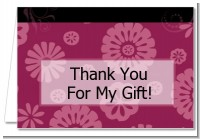 Maroon Floral - Graduation Party Thank You Cards