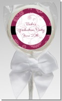 Maroon Floral - Personalized Graduation Party Lollipop Favors