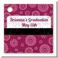 Maroon Floral - Personalized Graduation Party Card Stock Favor Tags thumbnail
