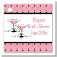 Martini Glasses - Personalized Bridal Shower Card Stock Favor Tags thumbnail