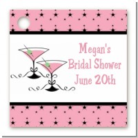 Martini Glasses - Personalized Bridal | Wedding Card Stock Favor Tags