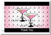 Martini Glasses - Bridal Shower Thank You Cards