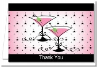 Martini Glasses - Bridal | Wedding Thank You Cards