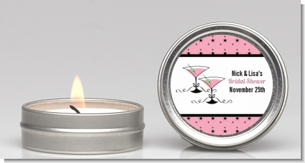 Martini Glasses - Bridal Shower Candle Favors
