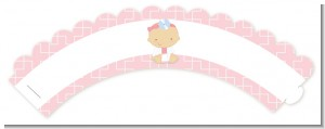 Little Girl Doctor On The Way - Baby Shower Cupcake Wrappers