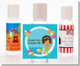 Mermaid African American - Personalized Birthday Party Hand Sanitizers Favors
