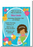 Mermaid African American - Birthday Party Petite Invitations