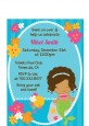 Mermaid African American - Birthday Party Petite Invitations thumbnail