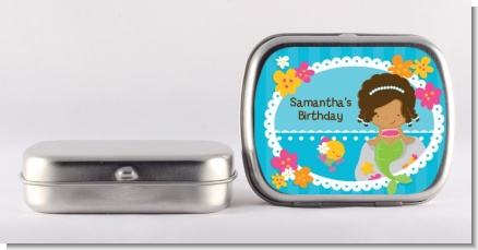 Mermaid African American - Personalized Birthday Party Mint Tins