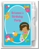 Mermaid African American - Birthday Party Personalized Notebook Favor