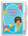 Mermaid African American - Birthday Party Personalized Notebook Favor thumbnail