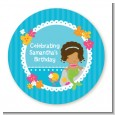 Mermaid African American - Personalized Birthday Party Table Confetti thumbnail