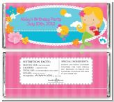Mermaid Blonde Hair - Personalized Birthday Party Candy Bar Wrappers