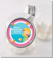 Mermaid Blonde Hair - Personalized Birthday Party Candy Jar