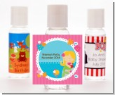 Mermaid Blonde Hair - Personalized Birthday Party Hand Sanitizers Favors