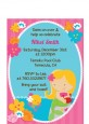 Mermaid Blonde Hair - Birthday Party Petite Invitations thumbnail