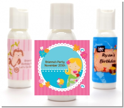 Mermaid Blonde Hair - Personalized Birthday Party Lotion Favors