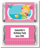 Mermaid Blonde Hair - Personalized Birthday Party Mini Candy Bar Wrappers
