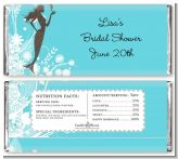 Mermaid - Personalized Bridal Shower Candy Bar Wrappers