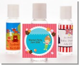 Mermaid Brown Hair - Personalized Birthday Party Hand Sanitizers Favors