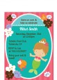 Mermaid Brown Hair - Birthday Party Petite Invitations thumbnail