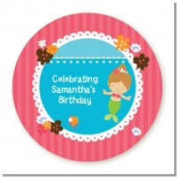 Mermaid Brown Hair - Personalized Birthday Party Table Confetti