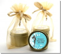 Mermaid Pregnant - Baby Shower Gold Tin Candle Favors