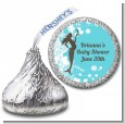 Mermaid Pregnant - Hershey Kiss Baby Shower Sticker Labels thumbnail