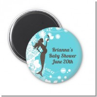 Mermaid Pregnant - Personalized Baby Shower Magnet Favors