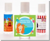 Mermaid Red Hair - Personalized Birthday Party Hand Sanitizers Favors