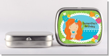 Mermaid Red Hair - Personalized Birthday Party Mint Tins