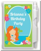Mermaid Red Hair - Birthday Party Personalized Notebook Favor