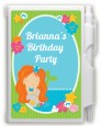 Mermaid Red Hair - Birthday Party Personalized Notebook Favor thumbnail