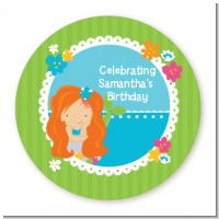 Mermaid Red Hair - Personalized Birthday Party Table Confetti