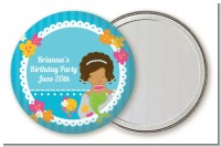 Mermaid African American - Personalized Birthday Party Pocket Mirror Favors
