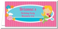Mermaid Blonde Hair - Personalized Birthday Party Place Cards