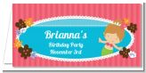 Mermaid Brown Hair - Personalized Birthday Party Place Cards