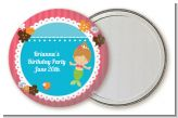 Mermaid Brown Hair - Personalized Birthday Party Pocket Mirror Favors