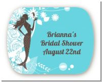 Mermaid - Personalized Bridal Shower Rounded Corner Stickers