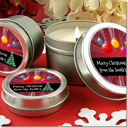 Merry and Bright - Christmas Candle Favors