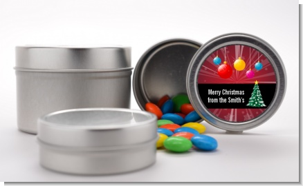 Merry and Bright - Custom Christmas Favor Tins